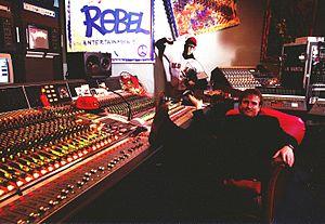 Benny Hester - Benny Hester in his recording studio, Universal Studios, FL, 1992