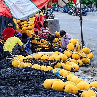 Benoa Bali Indonesia Repairing-Fishing-Net-in-Benoa-Harbour-04.jpg