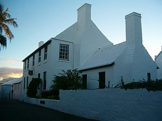 Architecture of Bermuda - Stewart Hall in St. George's was built around 1707.