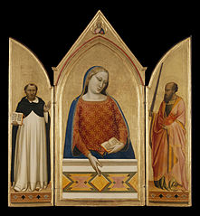 The Virgin Mary with Saints Thomas Aquinas and Paul