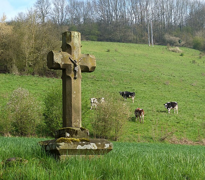 Wayside cross at Bettendorf, Luxembourg.