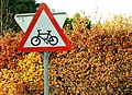Beware of cyclists near Scarva - geograph.org.uk - 1046382.jpg