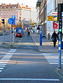 Bicycle lane at Forsta Langgatan Gbg.jpg