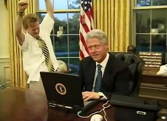 White House Correspondents' Association - Image: Bill Clinton Mike Maronna Final Days 2000