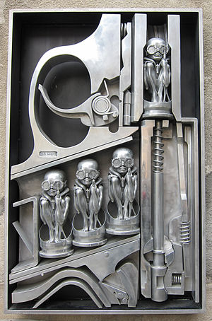 H. R. Giger - Birth Machine sculpture in Gruyères