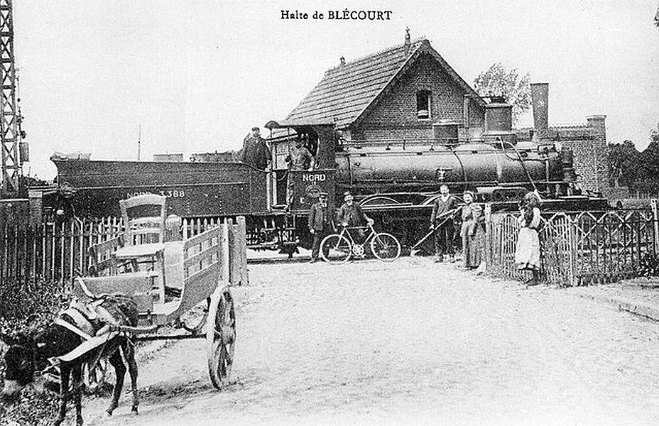 Ancienne halte ferroviaire de Blécourt, Nord, Nord-Pas-de-Calais, France.