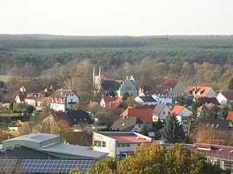 Joachimsthal, Brandenburg - Image: Blick auf Kreuzkirche Joachimsthal