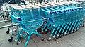 Blue Albert Heijn shopping carts at the Albert Heijn Sumatrastraat, The Hague (2019) 06.jpg