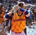 Blue Jays third baseman Josh Donaldson takes batting practice on Gatorade All-Star Workout Day. (28059133884).jpg