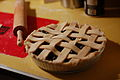 Blueberry pie with rolling pin, January 2009.jpg