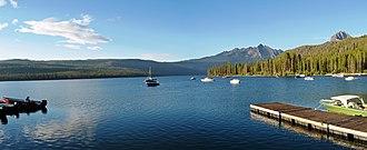 Redfish Lake - Image: Boats in Redfish Lake