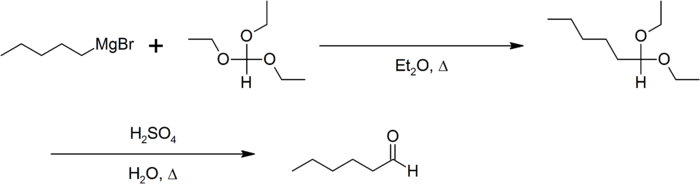 Synthese van n-hexanal