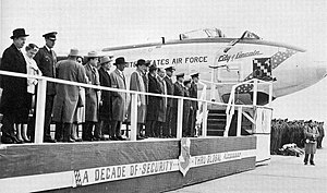415th Flight Test Flight - Dedication of first Boeing B-47 at Lincoln AFB