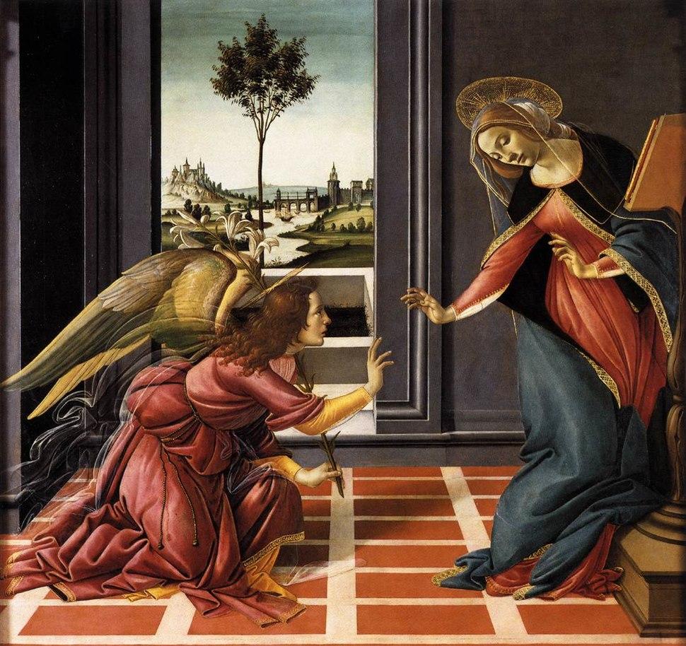 Botticelli, annunciazione di cestello 02