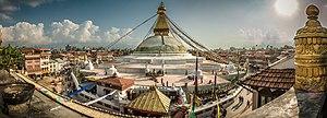 Boudhanath - Image: Boudhanath Panorama
