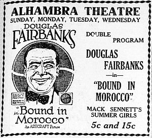 Bound in Morocco - Newspaper ad for Bound in Morocco and Mack Sennett's The Summer Girls (1918)