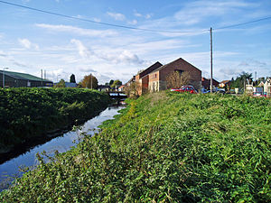Bourne Eau - The location of the terminus of the Bourne Eau Navigation at Bourne