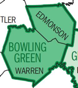 Map of Bowling Green Metro
