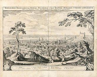 Bratislava - Pressburg in the 17th century