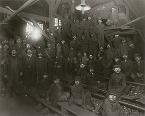 Pittston, Pennsylvania - Child laborers at Pittston coal mine, 1911. Photo by Lewis Hine.