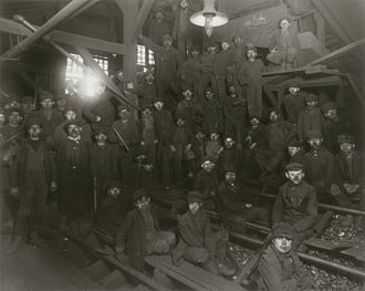 Pittston, Pennsylvania - Child laborers at Pittston coal mine, 1911. Photo by Lewis Hine.