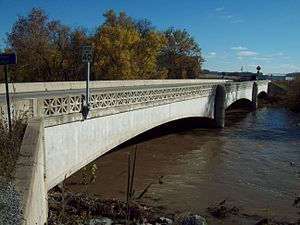 Bridge between Monroe and Penn Townships - Image: Bridge between Monroe and Penn Townships Oct 09