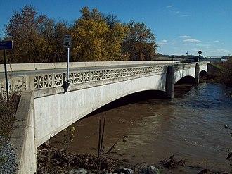 Bridge between Monroe and Penn Townships - Image: Bridge between Monroe and Penn Townships Oct 09