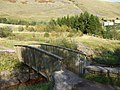 Bridge over the Ogwr Fach, carpark, Mynydd Maesteg - geograph.org.uk - 982975.jpg