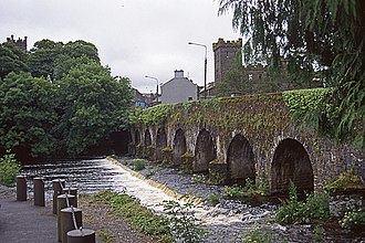 Macroom - Bridge over the river Sullane, viewed from Masseytown