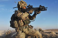British Army Soldier in Afghanistan Engaging the Enemy MOD 45154935.jpg