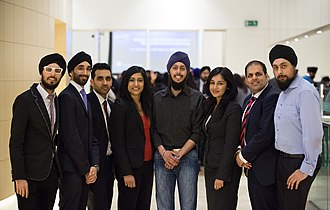 British Asian - British Asian professionals at a networking event in the City of London