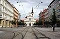Brno, Joštova, pohled od České na kostel (01).jpg