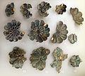 Bronzi di san mariano, rivestimenti di casse o altri arredi, 550-525 ac, 10 rosette.jpg