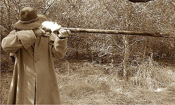 English: Firing French Charleville Musket