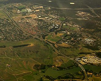 Bruce, Australian Capital Territory - Aerial view from west