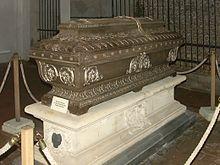 Sarkophag Anton Bruckners in der Stiftskirche von St. Florian (Quelle: Wikimedia)