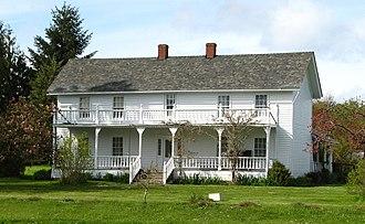 National Register of Historic Places listings in Polk County, Oregon - Image: Brunk House Polk Co Oregon