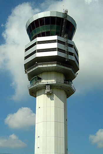 English: New tower of Brussels Airport at the ...