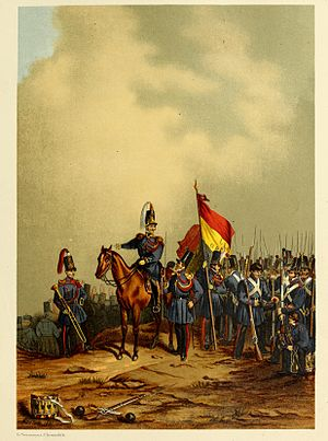 Garde Civique - Painting of the Garde Civique at the end of the Belgian Revolution of 1831 by Jean-Baptiste Madou