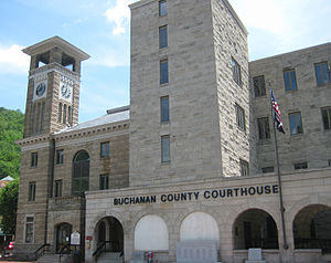 National Register of Historic Places listings in Buchanan County, Virginia - Image: Buchanan Co Courthouse