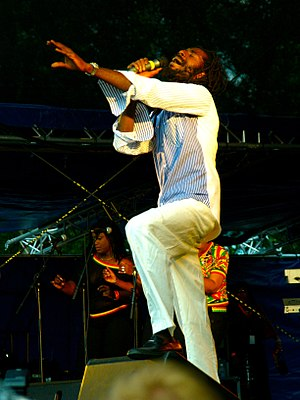 Buju Banton performing at the Ilosaarirock fes...