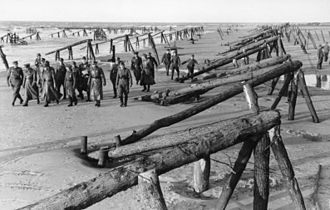Juno Beach - Field Marshal Erwin Rommel inspecting Atlantic Wall defences, April 1944
