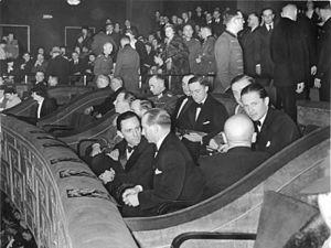 Ufa-Palast am Zoo - Joseph Goebbels and Ewald von Demandowsky (right rear) at an event in the Ufa-Palast am Zoo, 19 January 1938