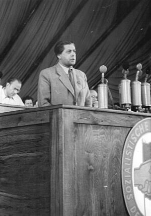 Josef Frank (politician) - Josef Frank speaking at the third congress of the Socialist Unity Party of Germany, 1950