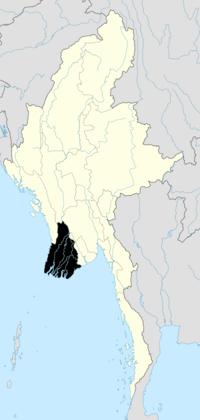 Location o Ayeyarwady Region in Burma