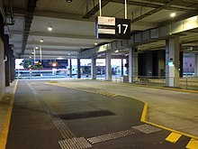 Bus bay under Terminal 4 car park