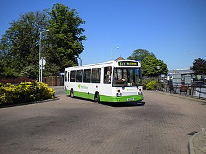 Stephensons of Essex - East Lancs EL2000 bodied Dennis Dart in Newmarket in May 2012