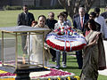Bush wreath ceremony memorial Mahatma Gandhi.jpg