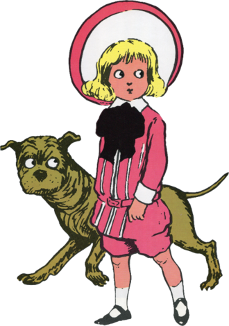 Buster Brown suit - The comic strip character Buster Brown, wearing the outfit that took his name