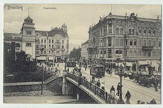 Bydgoszcz - Theater Square in 1911